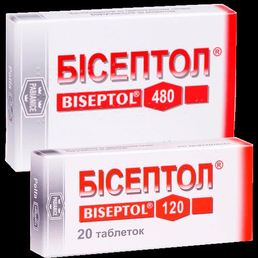 Бісептол таблетки 100 мг/20 мг, 400 мг/80 мг