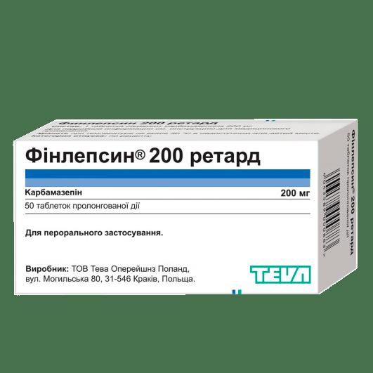 Фінлепсин 200 Ретард фото препарата