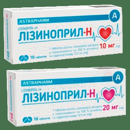 Лізиноприл-Н Астрафарм